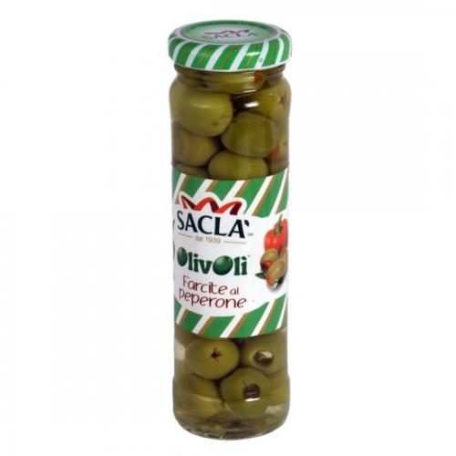 Sacla peperonival töltött olivabogyó 140g