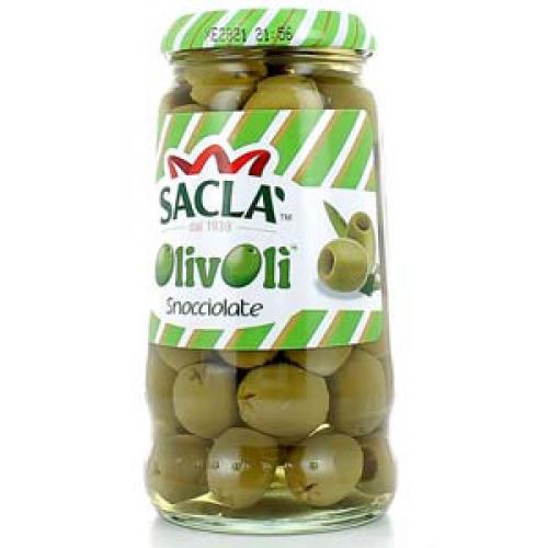Sacla zöld olivabogyó magozott 290g